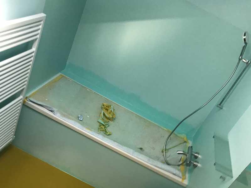 Bodenbeschichtung – Eigenheim – Dusche und Bad